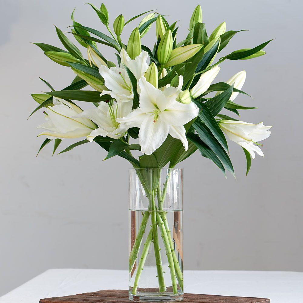 Красивые букеты из белых лилий картинки